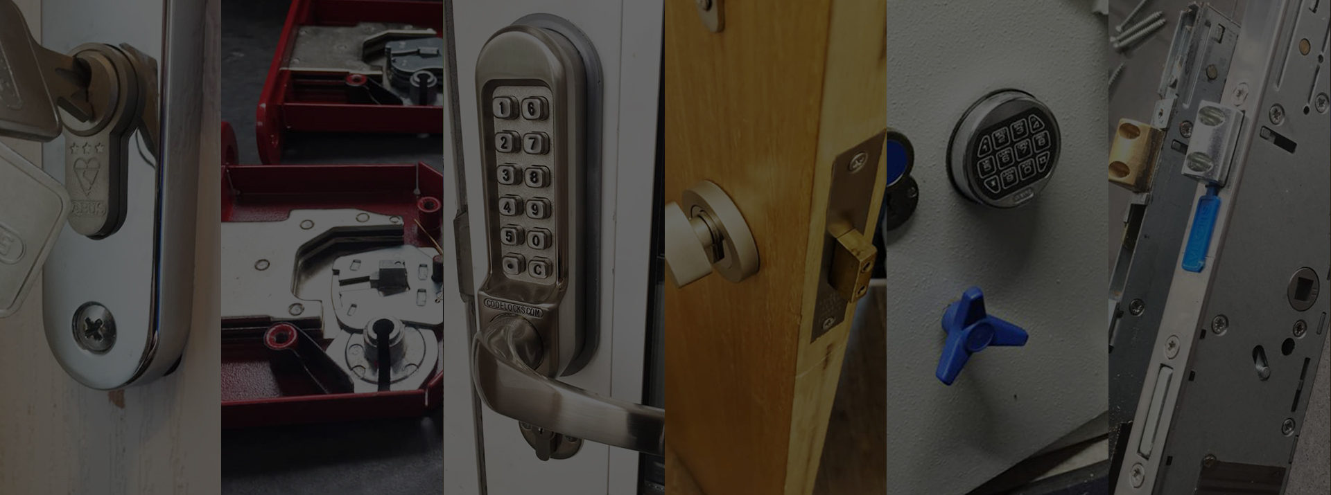 different examples of door locks